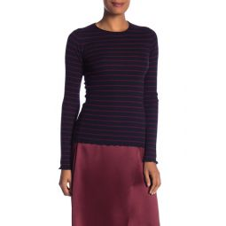 Striped Long Sleeve Cashmere Top