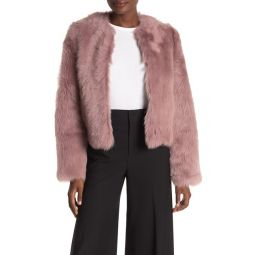 Cropped Genuine Shearling Jacket