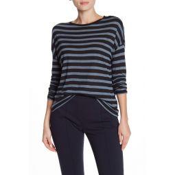 Striped Long Dolman Sleeve T-Shirt