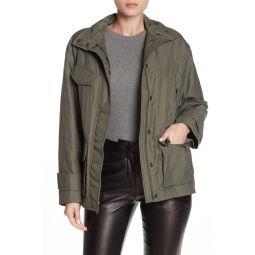 Solid Flap Pocket Zip Anorak Jacket