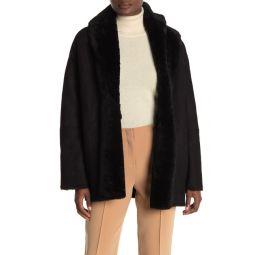 Genuine Shearling Cardigan Coat