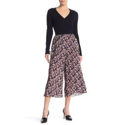 Micro Painted Floral Print Culottes