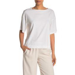 Elbow Length Sleeve Linen Blend Top