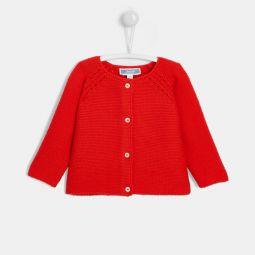 Baby girl garter stitch cardigan
