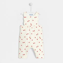 Baby girl bird print onesie