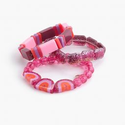 Girls rainbow bracelet three-pack