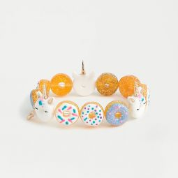 Girls unicorn and donut bracelet