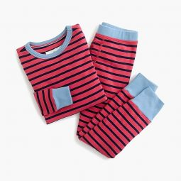 Kids pajama set in colorblock stripes