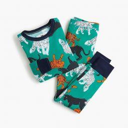 Kids pajama set in jungle cats
