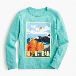 Kids long-sleeve hit the trail T-shirt