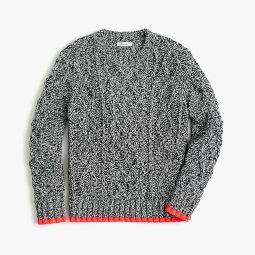 Kids cableknit cotton sweater