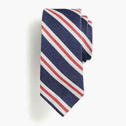 Boys silk tie in old-school stripe