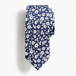 Boys silk tie in floating flowers