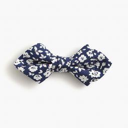 Boys silk bow tie in floating flowers