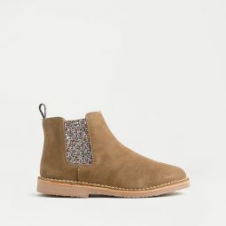 Girls Childrenchic X crewcuts glitter Chelsea boots