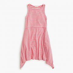 Girls striped handkerchief dress
