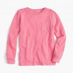 Kids long-sleeve garment-dyed T-shirt