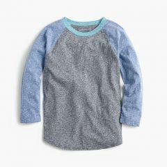 Boys three-quarter-sleeve baseball T-shirt in the softest jersey