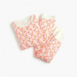 Girls pajama set in hearts
