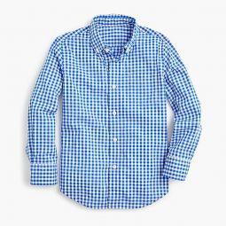 Boys Secret Wash shirt in light blue gingham