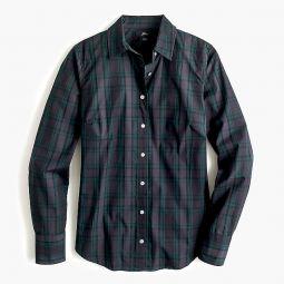 Slim Stretch Perfect Shirt In Black Watch Tartan