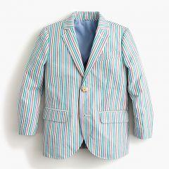 Boys Ludlow suit jacket in rainbow seersucker