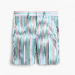Boys Ludlow suit short in rainbow seersucker
