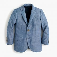 Boys Ludlow suit jacket in chambray