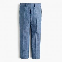 Boys Ludlow suit pant in chambray
