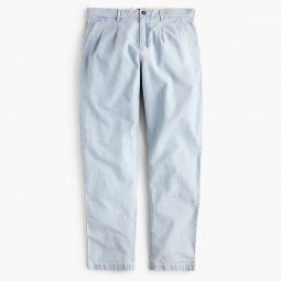 Double-pleated Pant In Indigo Chambray