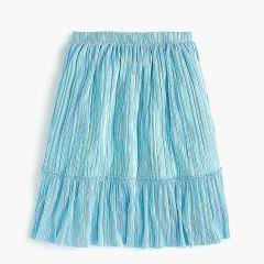 Girls shimmery midi skirt