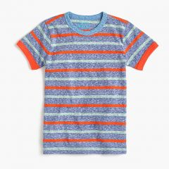 Kids striped ringer T-shirt in the softest jersey