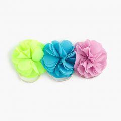 Girls blossom ponytail holders