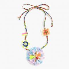 Girls fabric flower necklace