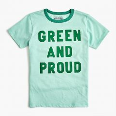 Kids green and proud T-shirt