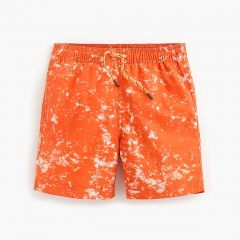Boys swim trunk in static print with UPF 50+