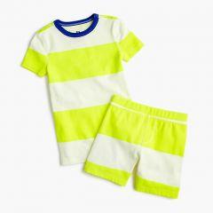 Kids short pajama set in rugby stripe