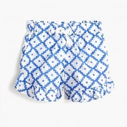Girls SZ Blockprints for crewcuts ruffle pull-on short