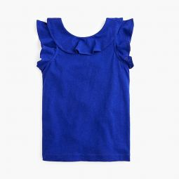 Girls sleeveless ruffle top