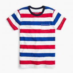Kids pocket T-shirt in rugby stripe