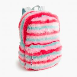 Girls furry backpack