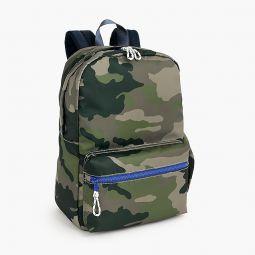 Kids camo-print backpack