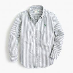Kids critter oxford shirt in stripe