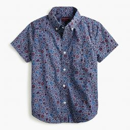 Kids short-sleeve button-down in Liberty colombo chambray