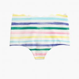 Marysia Palm Springs high-waisted bikini bottom in watercolor stripe