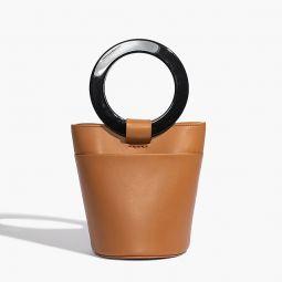 Modern Weaving circle handle bucket bag