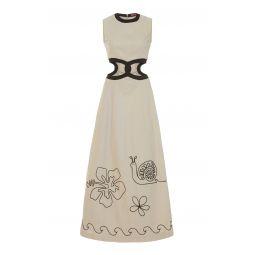 Colada Linen Blend Cutout Dress