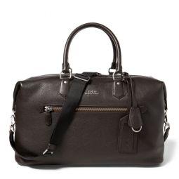 Pebbled Leather Duffel Bag