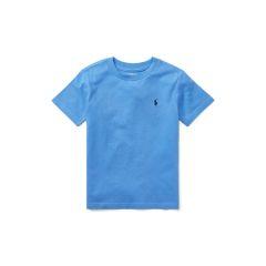 Kids Cotton Jersey Crewneck T-Shirt