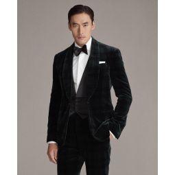Formal Tartan Velvet Jacket